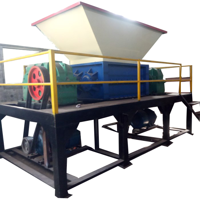 High quality waste paper recycling machine / double shaft shredder wood