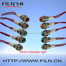 2015 light indicator red 12v neon indicator lamp led 10MM lamp ce rohs bicycle indicator lights