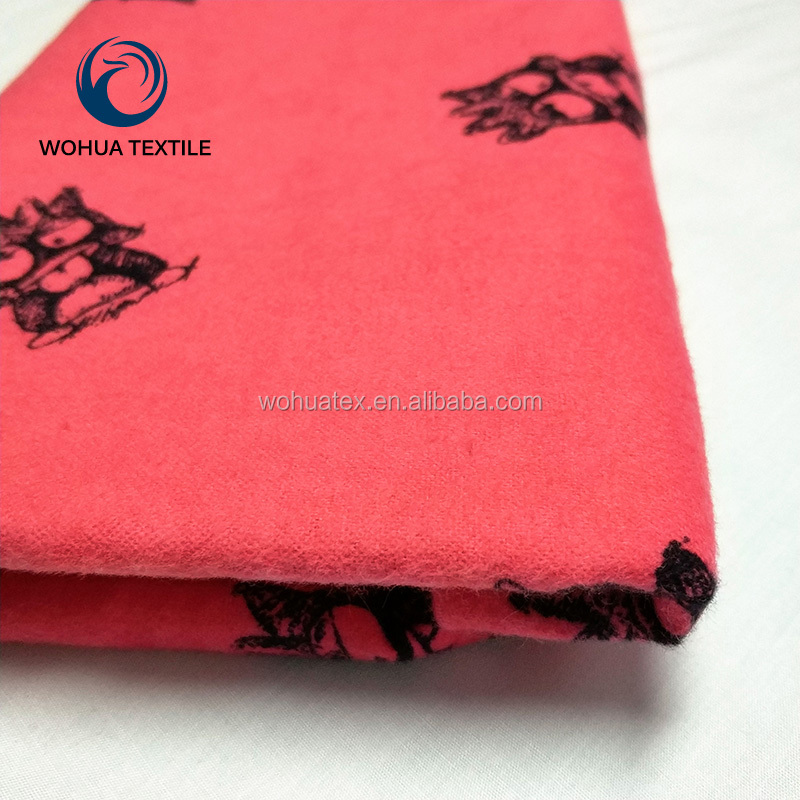high quality printed cotton brushed stretch flannel fabric for blanket,home textile