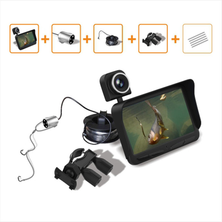 4.3 inch 20m cable 2 cameras underwater video dvr fish finder camera for ice fishing