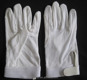 Cotton Horse Riding Gloves with pimple palm