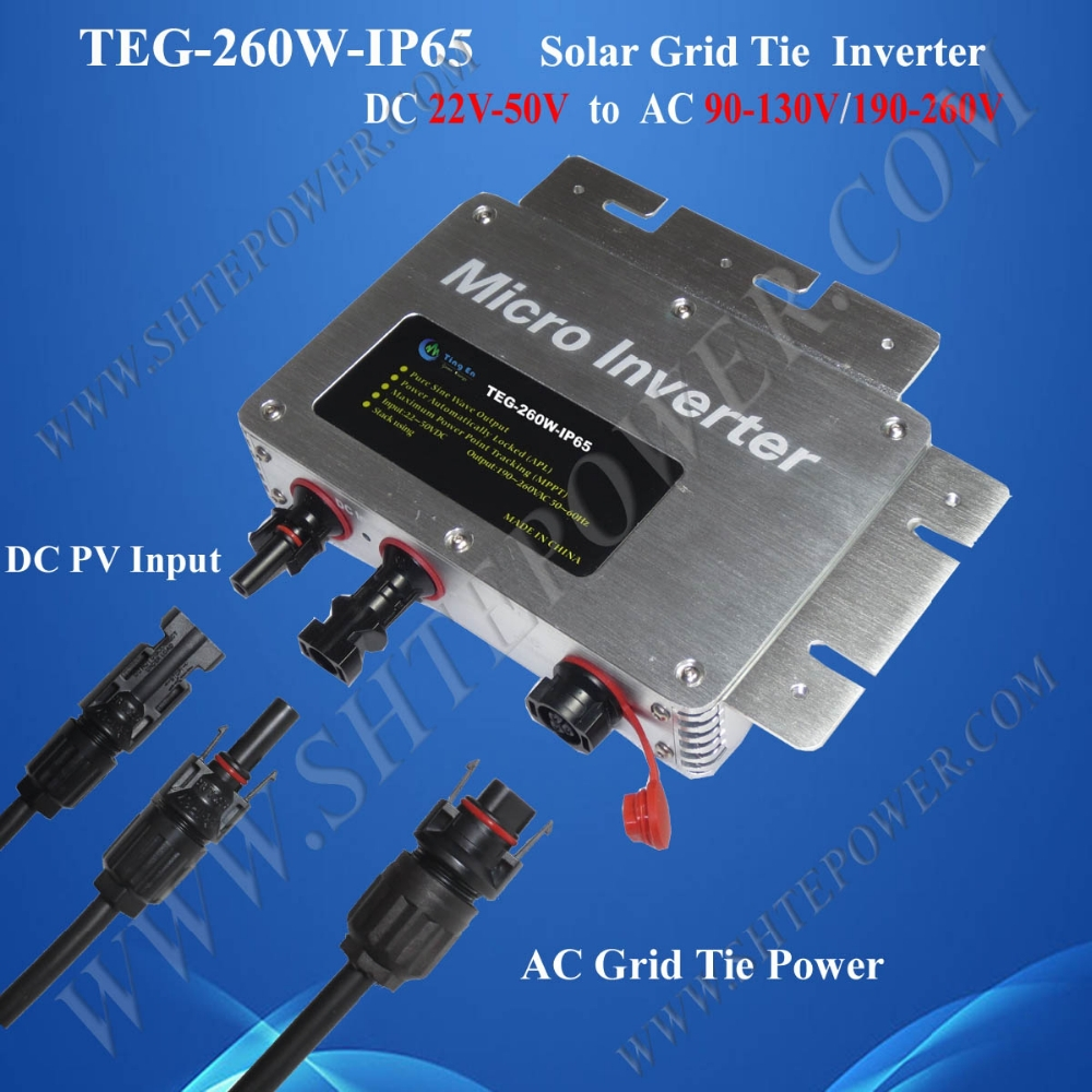 IP65 Waterproof and Communication Function, DC 22-50v to AC 220v 240v On Grid Micro Inversor Solar