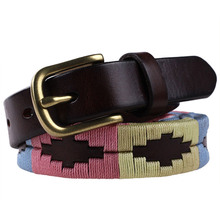 Customized Fashion Design Handmade Non-Elastic Braided Genuine Leather Belt