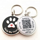 Wholesale custom zinc alloy smart NFC qr code pet id tag with epxoy stickers