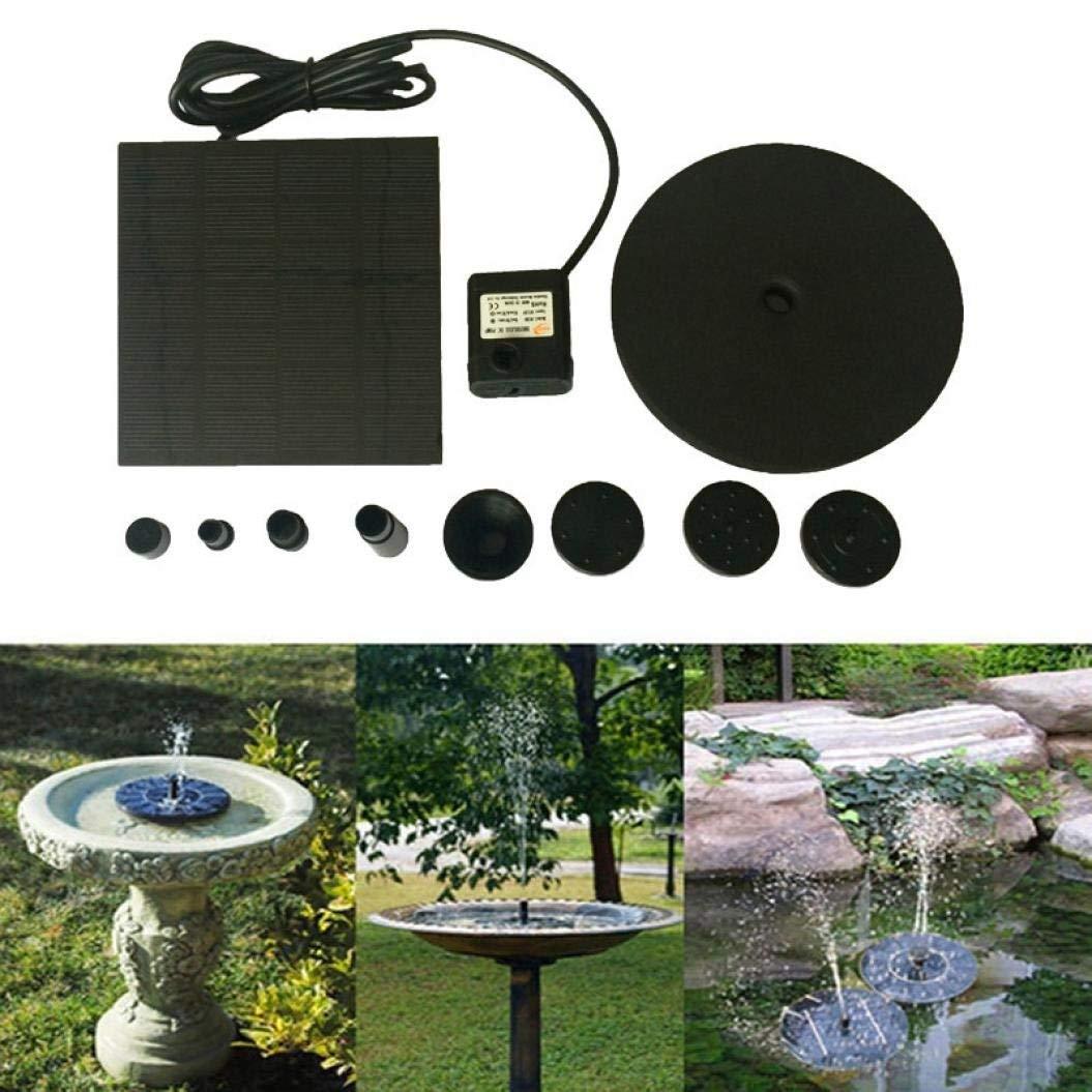 Aquarium,LtrottedJ Floating Solar Powered Pond Garden Water Pump Fountain Kit Bird Bath Fish Tank