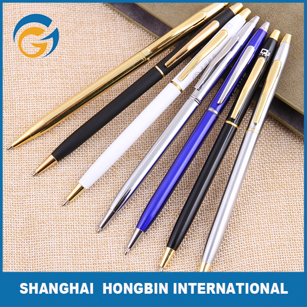 Hotel Thin Slim Metal Twist Ball Pen