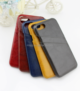 Ultra Slim PU Leather Wallet Phone Case with 2 Cards Slots Phone Cover for iPhone 8 / 8Plus