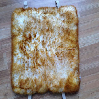Genuine Real Sheepskin Tie Back Chair Cushions