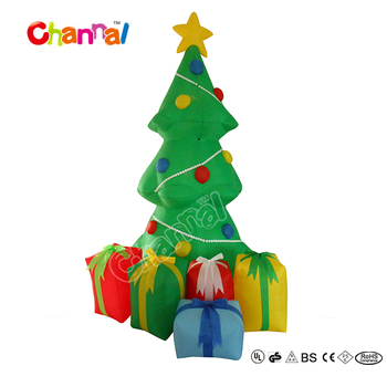 chxt1507 colorful christmas outdoor decoration inflatable
