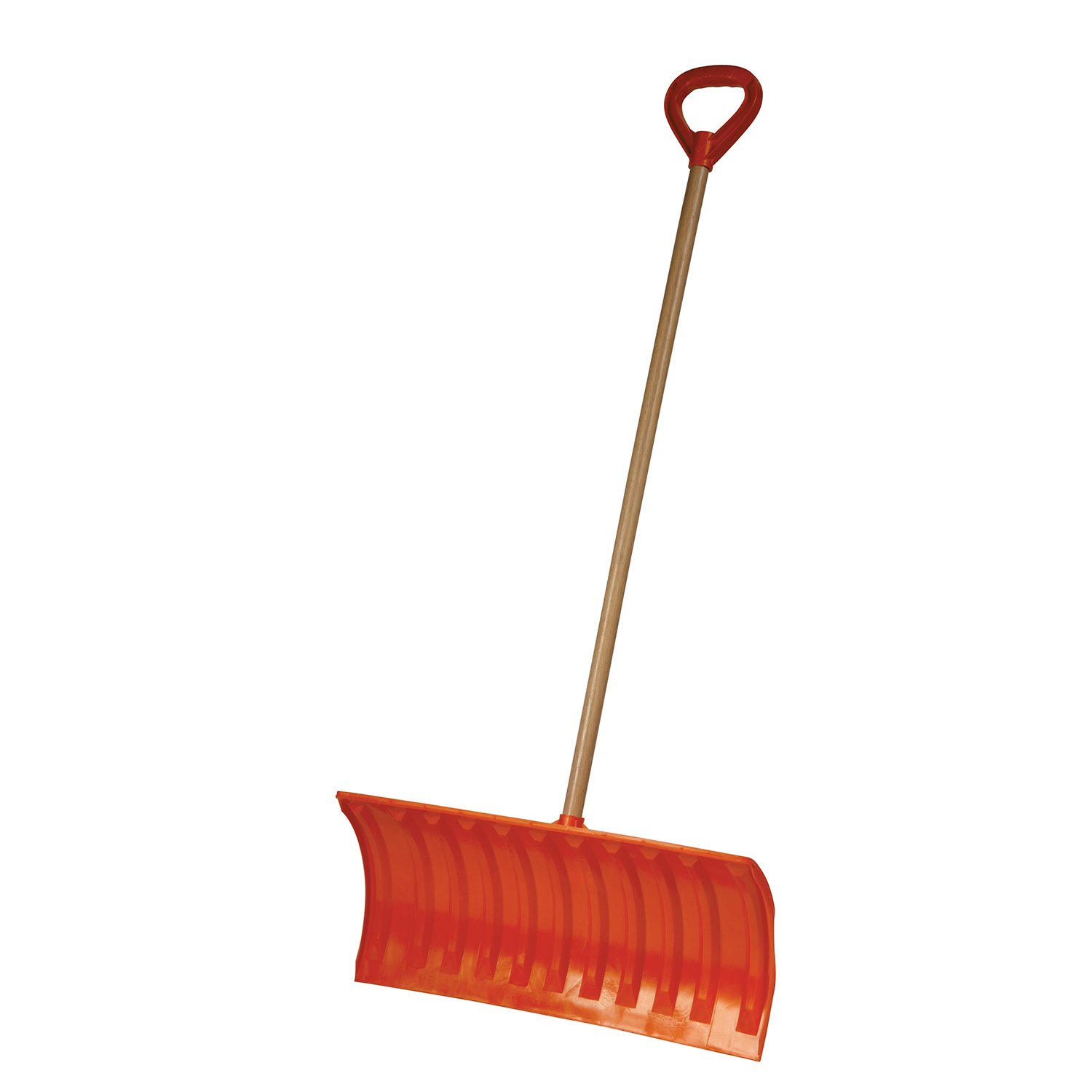 EMSCO Bigfoot Snow Roller Pusher Snow Shovel –– 25-Inch-Wide Blade – Made in USA