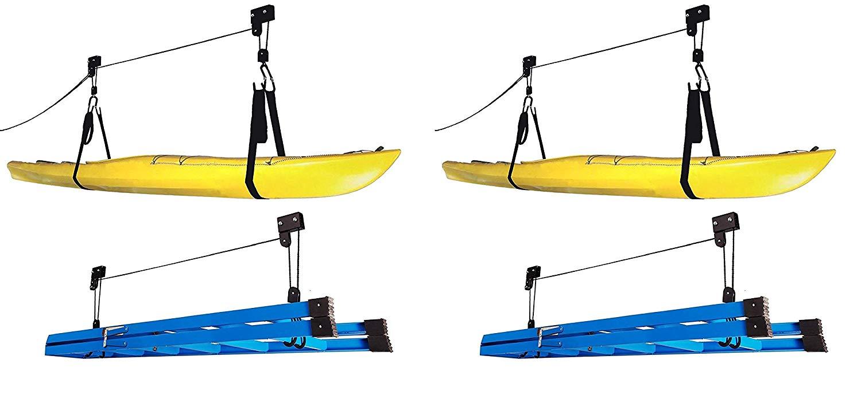 Capacity Kayak Hoist Complete System for Garage Extreme Max 70360 120 lb