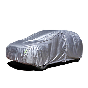 China Manufacturer UV Protection Rain Waterproof Silver Coated 190T Polyester Car Cover