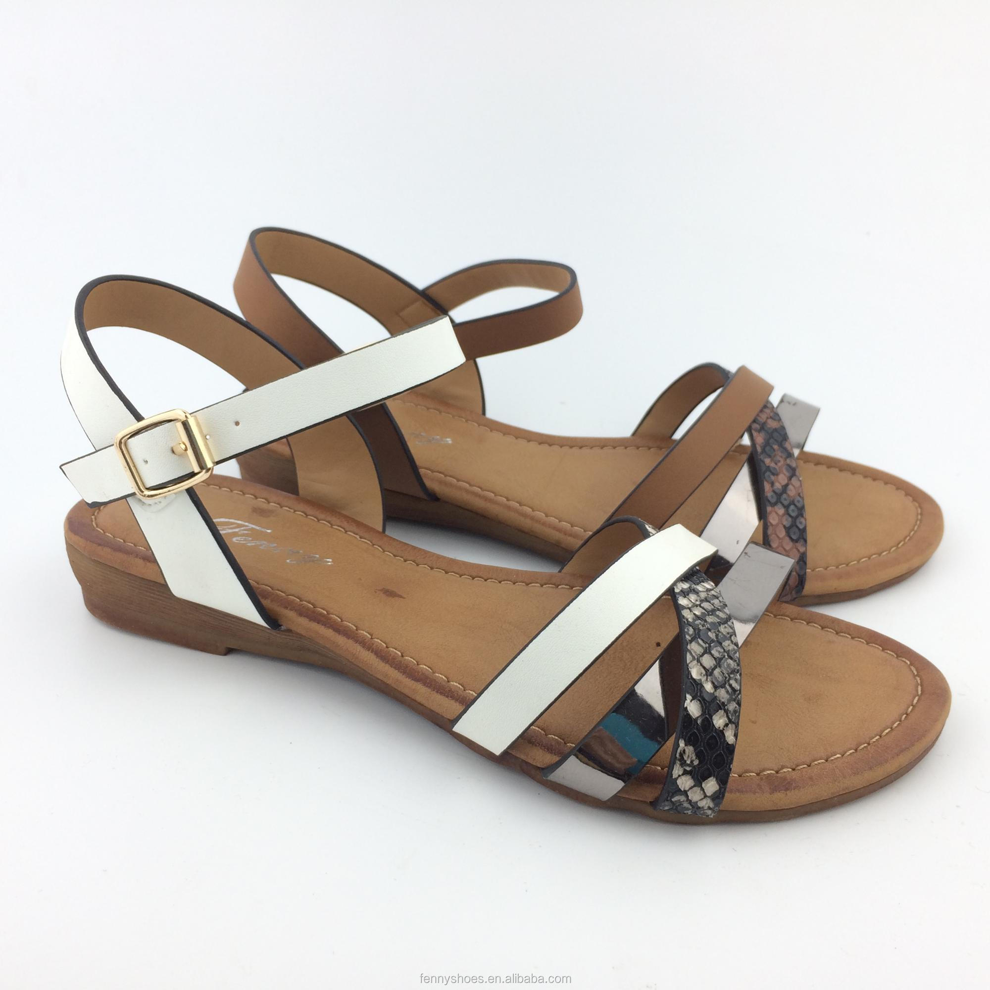 2018 Italy fashion low wedge women and lady beach comfortable <strong>sandals</strong> 36-41