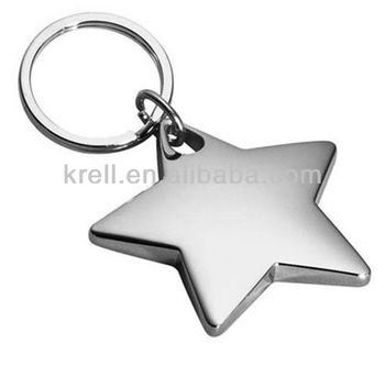 45mm or custom size pentagram shape floating metal key chain