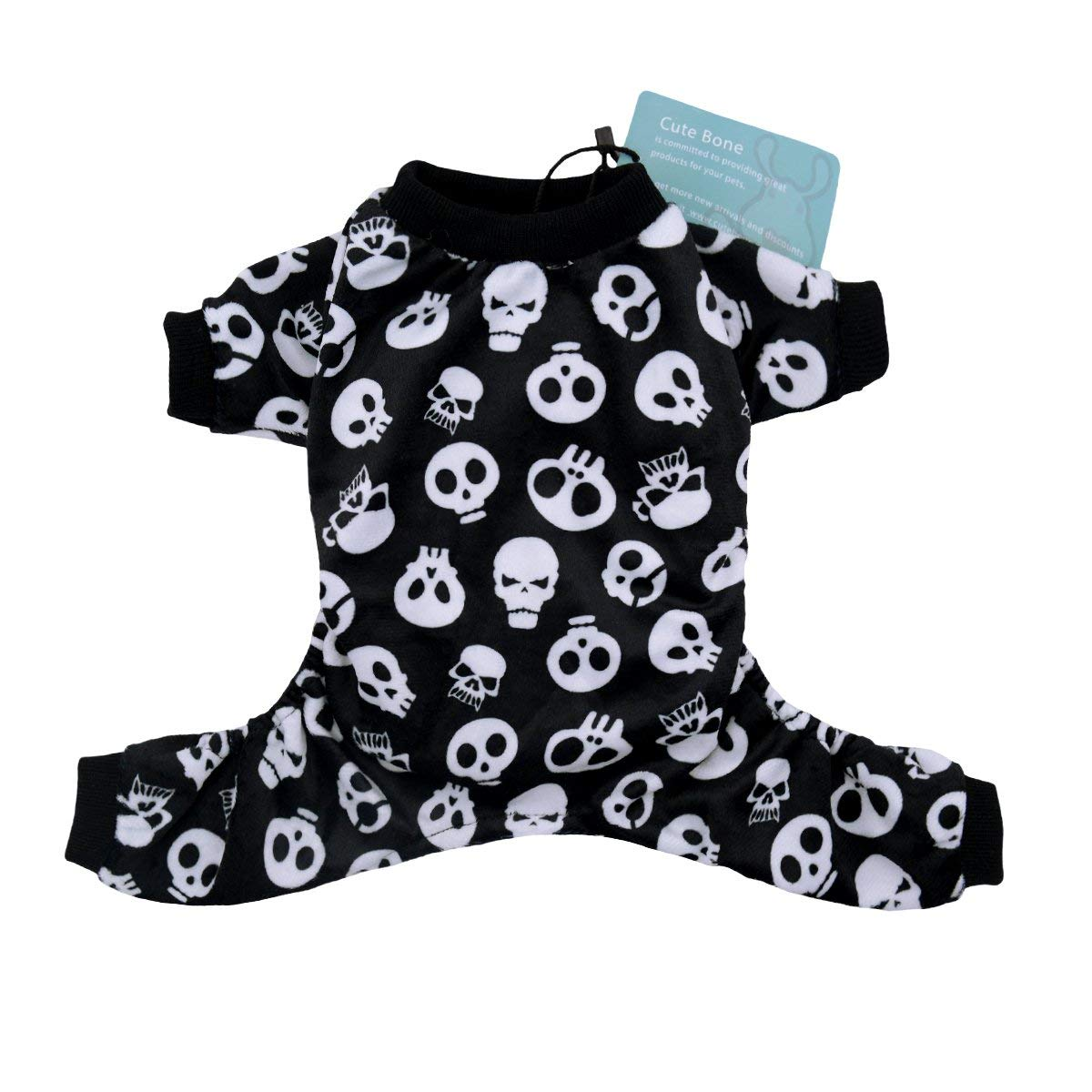 80b757f1d94 Get Quotations · CuteBone Dog Pajamas Skeleton Dog Apparel Dog Jumpsuit Pet Clothes  Pajamas P112829
