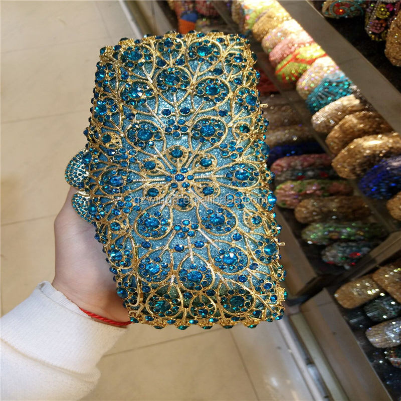 promotion new designs crystal stone evening bag gold clutch formal clutches LB10