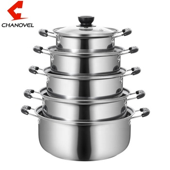 10pcs stainless steel stock pot /cookware set with Glass Lid casserole set