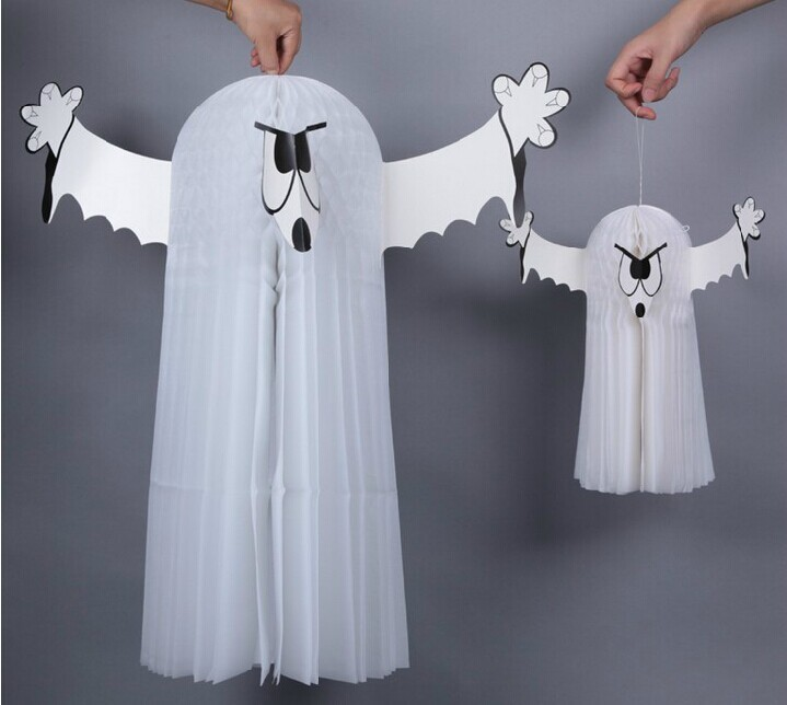 Halloween Party Supplies Decorations Vintage 3D Parachute Ghost Yarn Hanging Decoration Wall Decor
