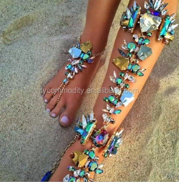 Silver Color Lead Pendant Tassel Anklets Bracelets Long Chain Multi-layer Ankle Summer Foot Jewelry Beach Chain Commodities Are Available Without Restriction Anklets
