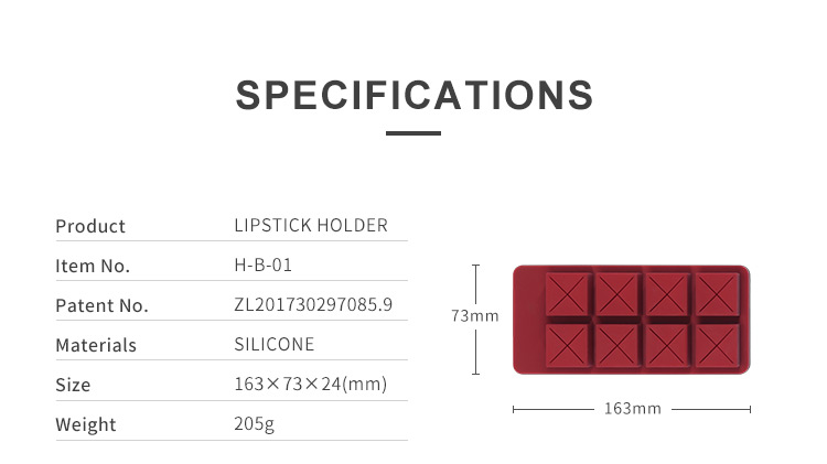 Creative Silicone Chocolate Design Lipstick Holder Makeup Organiser