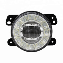 Emark R87 R19 Certificated 90mm LED DRL Fog Light with Halo Ring