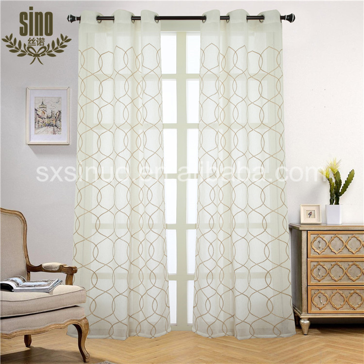 Best Price elegant embroidered sheer window curtain