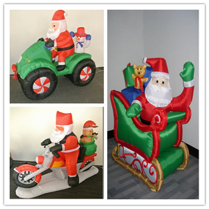 outdoor inflatable santa in sleigh for christmas 2013 best sale