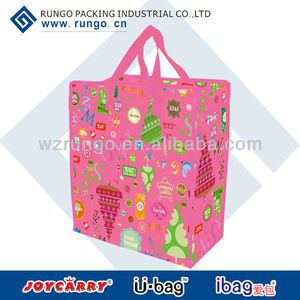 Christmas series pp woven promotional shopper with zipper