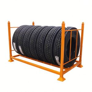 Color customizable heavy duty tire display rack tyre storage rack