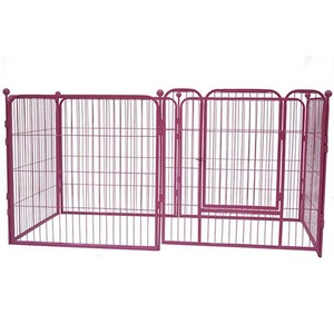 China wholesale metal heated iron foldable dog pen steel dog kennel