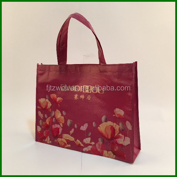 PP non woven laminated color printing handbags for kids or ladies