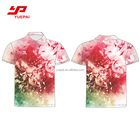 Shirt Full Sublimation Sublimation Printing Tshirt Wholesale 100% Polyester Anti-baterial Sports Clothing Custom Design Printing Men Golf Shirt Full Sublimation Polo T Shirt