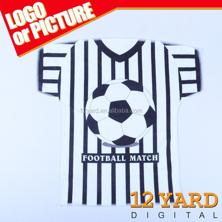 Custom sublimation gift football maquick-drying t-shirt shape Hockey towel towel for sublimation