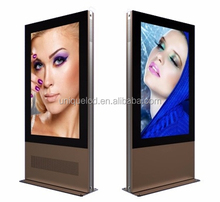Digital signage lcd tft player display for advertising LED backlight double screen outdoor totem