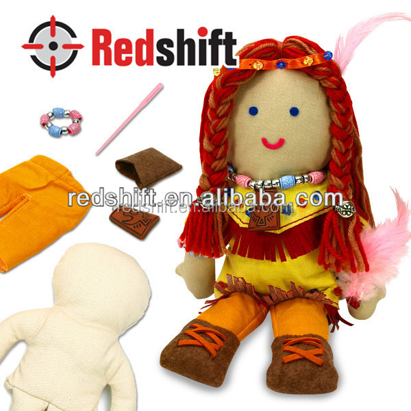 OEM Educational toy Create your doll kit diy Indiana doll