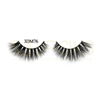 Groothandel Custom Private Label Nertsen Wimpers Bulk 3D Real Mink Strip Lashes