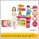 Non-toxic restaurant play set toy kids kitchen OC0229216