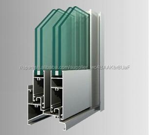 Perfil de aluminio con doble vidrio para ventanas y for Ventanas de aluminio doble vidrio argentina