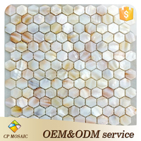 kitchen backsplash tile hexagon fresh water shell mosaic tile mother of pearl