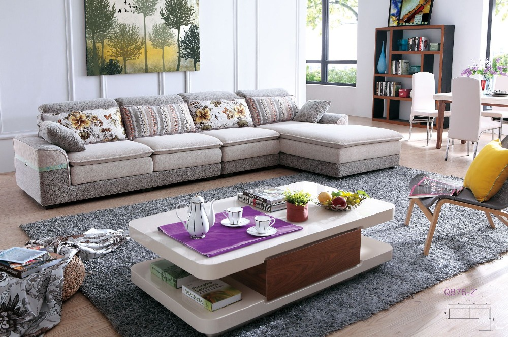 Lizz Grey Corner | L Shaped Sofa and Couch Fabric Chaise
