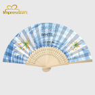 Chinese folding flower silk and bamboo women lady's hand fans