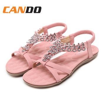 c5a75c15cb0e5a Latest Designer Ladies Beach Beads Upper Flat Sandals - Buy Ladies ...