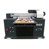 Top selling A3 WER-E3055UV 8 ink cartridges and high adhesive small uv led printer