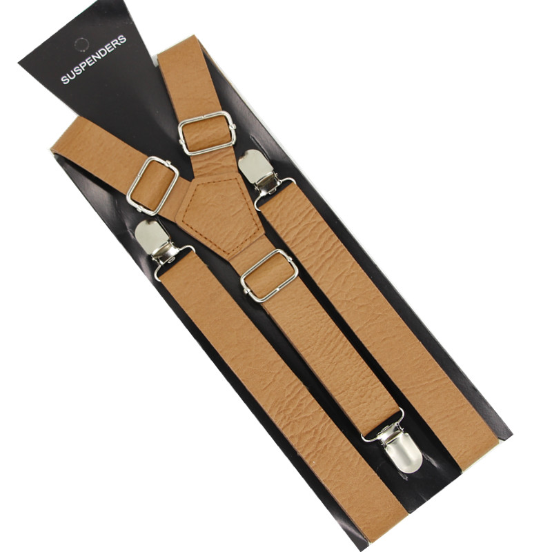 <strong>Mens</strong> PU Leather <strong>Suspenders</strong> Women <strong>Suspenders</strong> Adjustable Trousers Belts