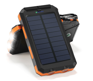 Portable Water Proof 8000mah Power Bank Solar Panel Phone Charger For Hiking