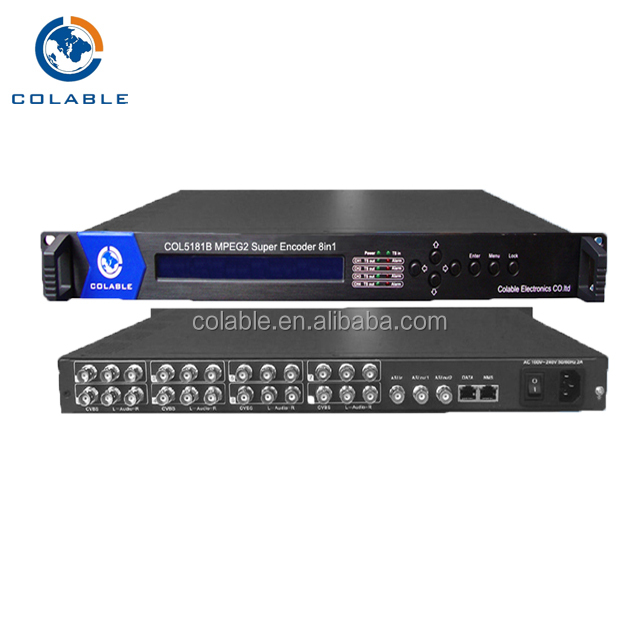 8ch encoder, mpeg2 encoder ip, super encoder supporto mpts spts unicast multicast
