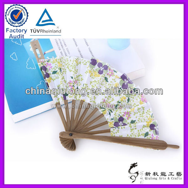 Custom Handy Craft Round Folding Hand Fan