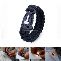 KongBo 4 in 1 Flint Fire Starter Outdoor Paracord Survival Bracelet