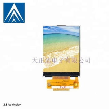 240*320 flexible lcd panel 2.8 tft lcd touch screen active color tft lcd