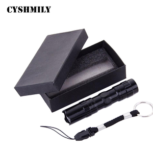 CYSHMILY Mini Aluminum AA Battery Gift Black LED Flashlight
